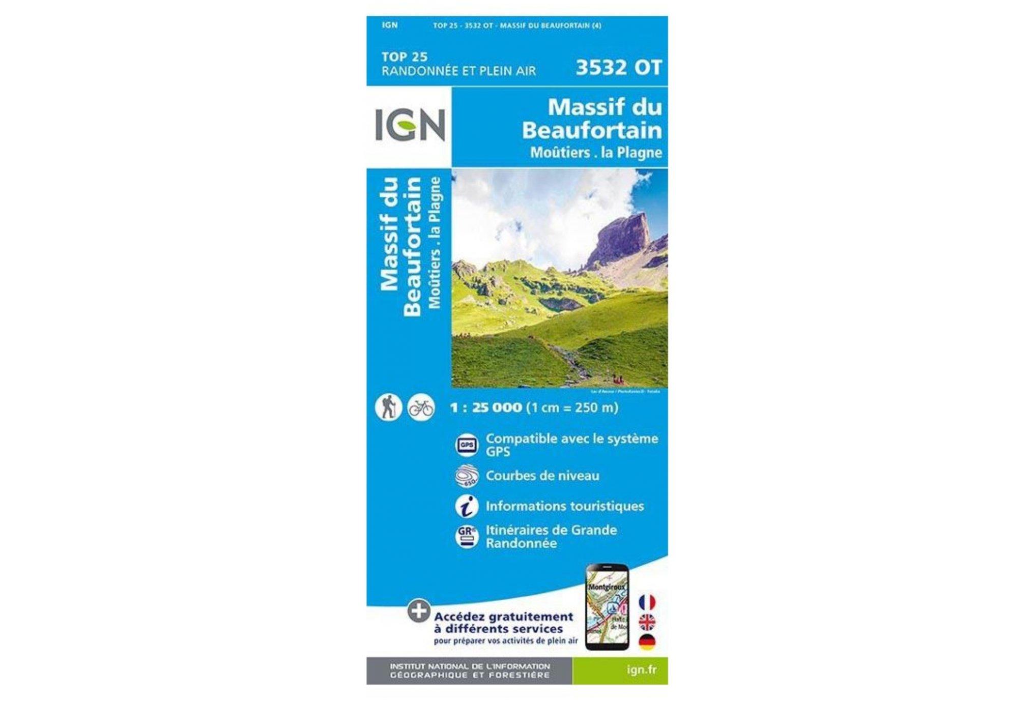 Carte IGN Massif du Beaufortain 3532OT Cartes