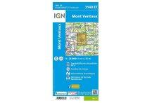 Carte IGN Mont Ventoux 3140ET