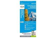 Carte IGN Saint-Gervais-les-Bains 3531ET