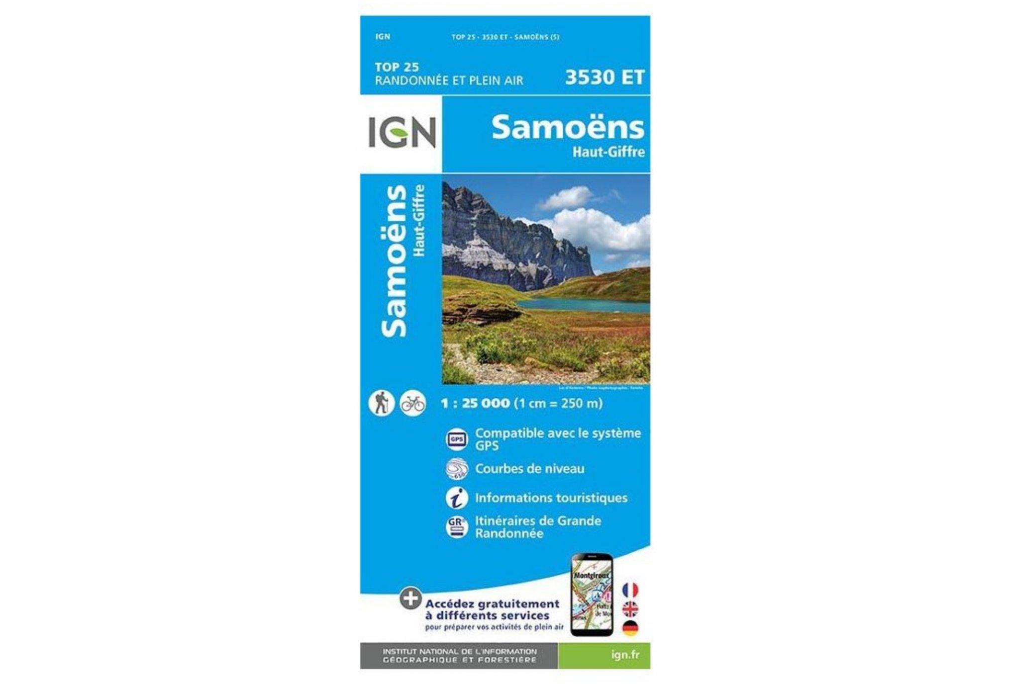 Carte IGN Samoëns 3530ET Cartes