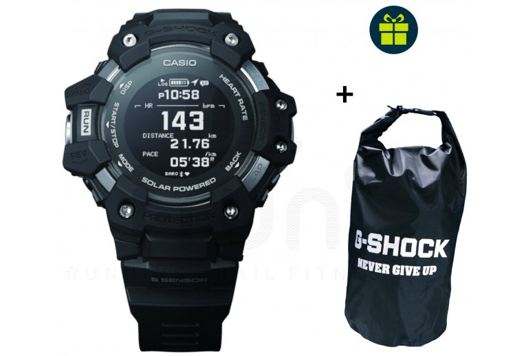 Casio G-SQUAD HR GBD-H1000-1ER et sac étanche G-Shock offert