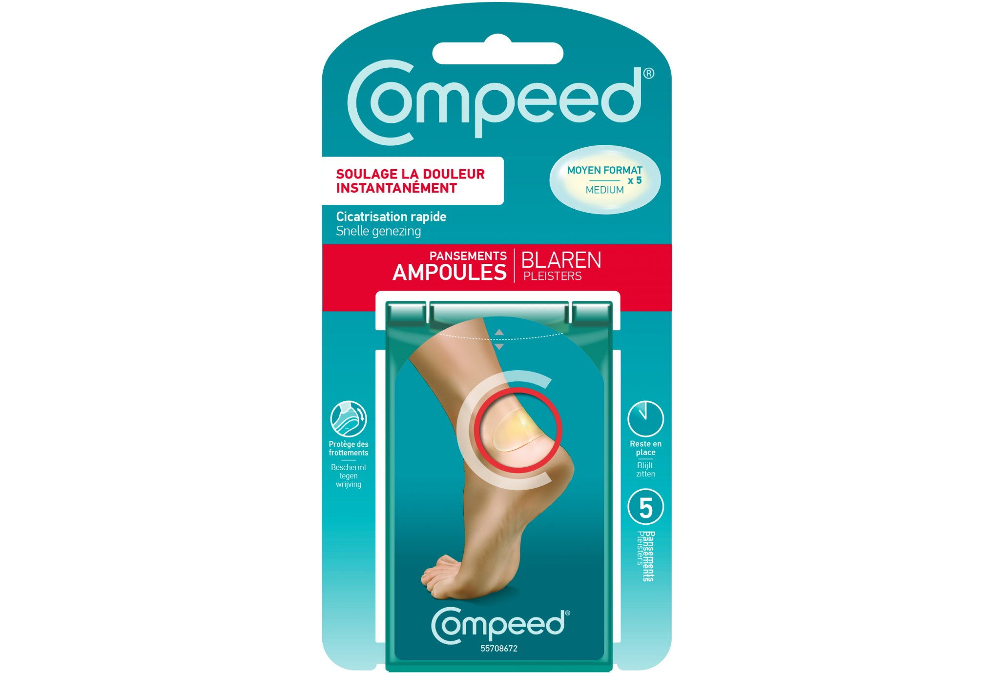 Compeed Pansements ampoules - talon Protection musculaire & articulaire