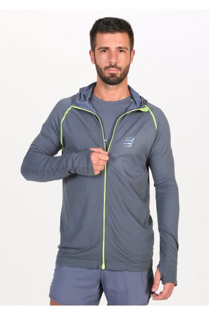 Compressport camiseta manga larga 3D Thermo Seamless Hoodie Born To SwimBikeRun 2020