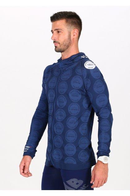 Compressport chaqueta 3D Thermo Seamless Hoodie Mont Blanc 2020