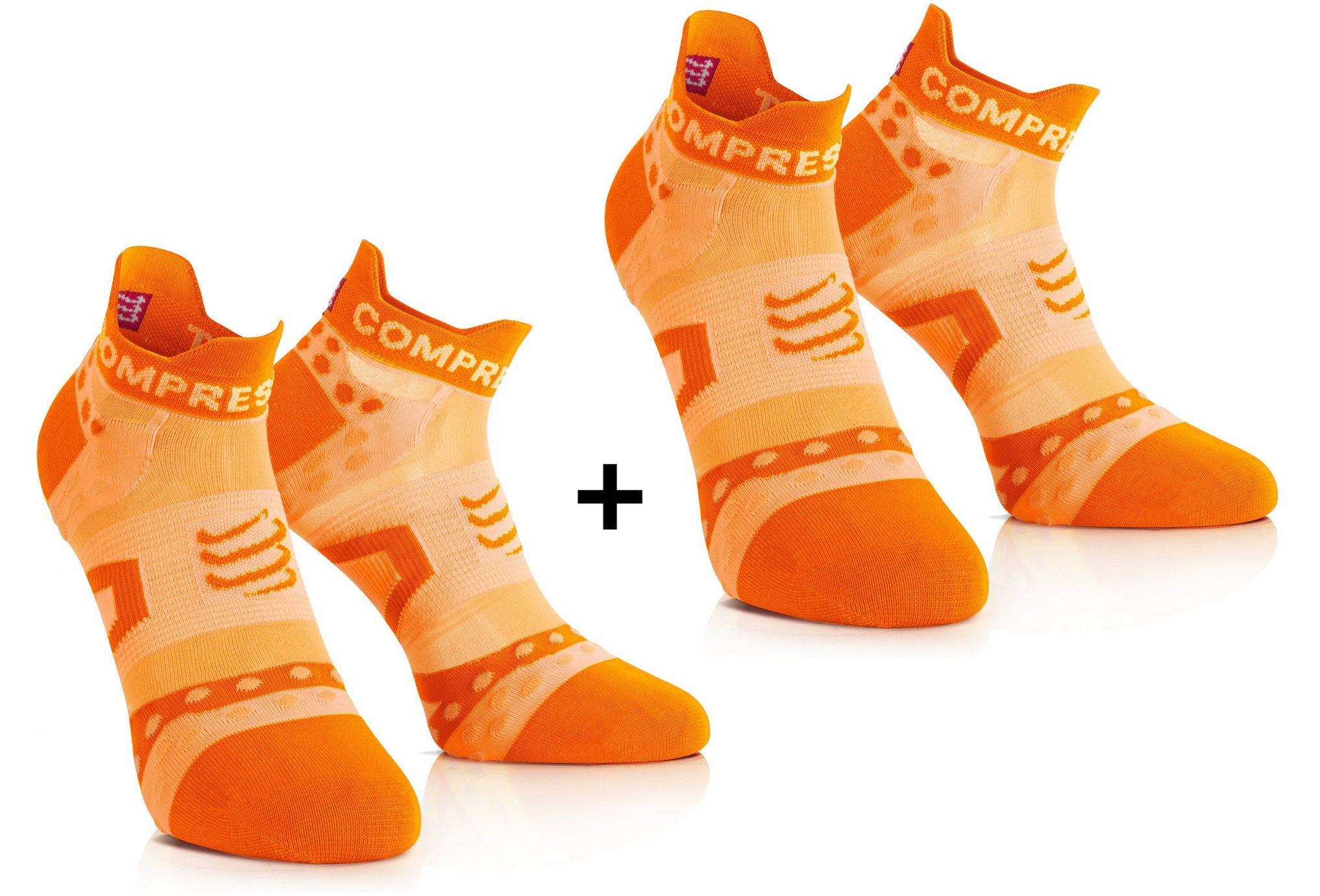 Compressport Pack Chaussettes Pro Racing Ultra Light Run Low Chaussettes