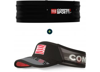 Compressport Pack cinturón Free Belt Pro + visera UltraLight