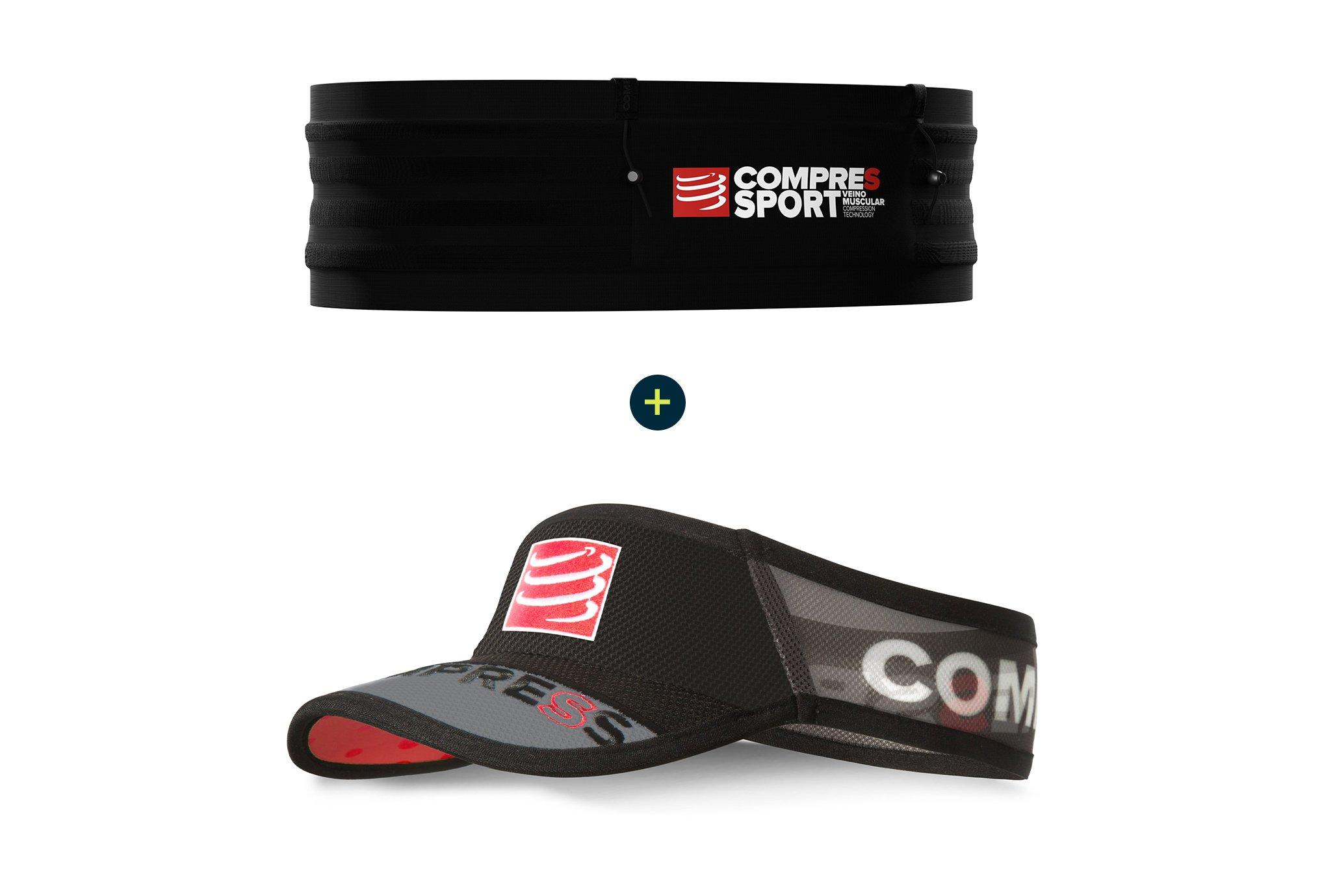 Compressport Pack Free Belt Pro + Visière UltraLight Ceinture / porte dossard