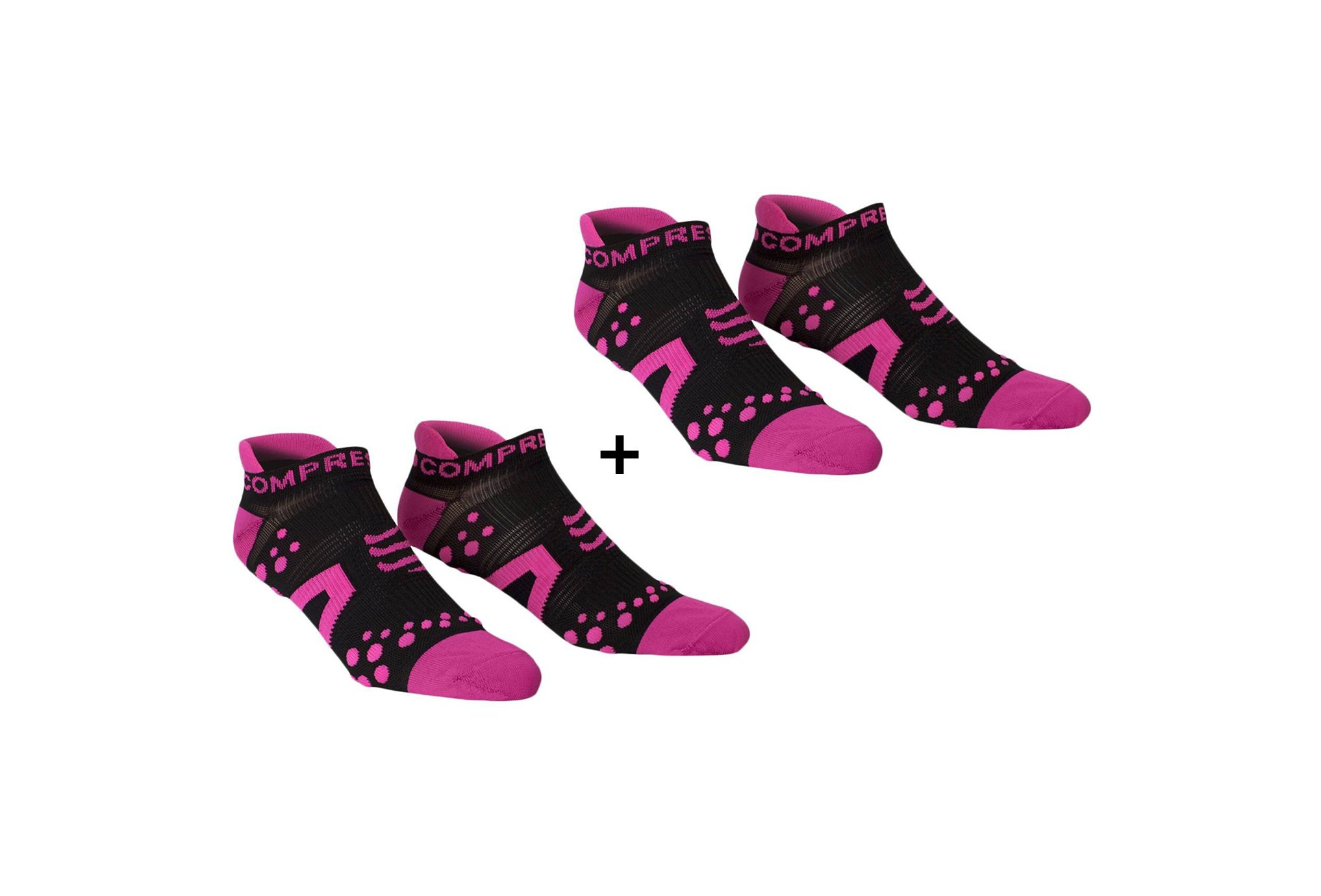 Compressport Pack Pro Racing V2 Run Low Chaussettes