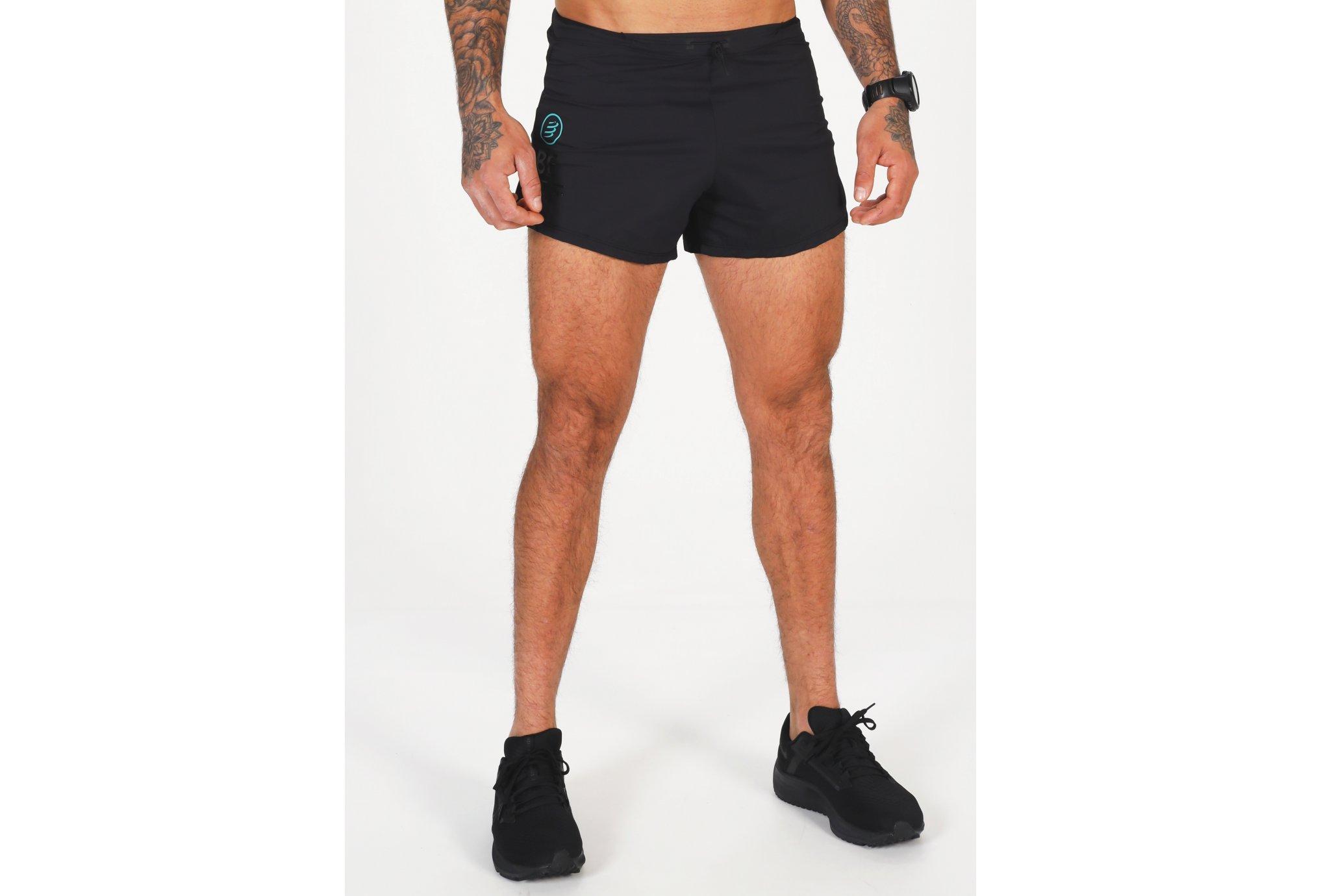 Compressport Racing Split Overshort Black Edition 2021 M vêtement running homme