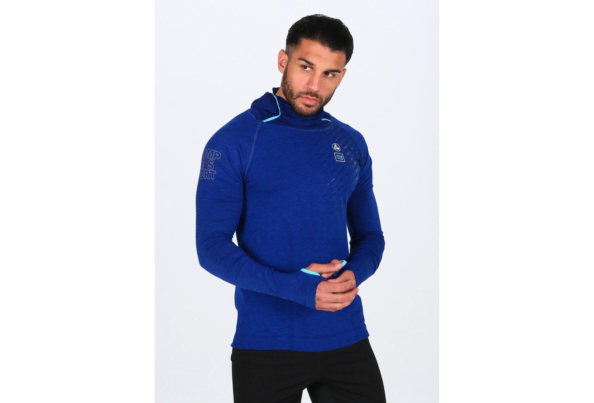 Compressport Ultra Trail 180g Racing Hoodie UTMB 2018 M vêtement running homme