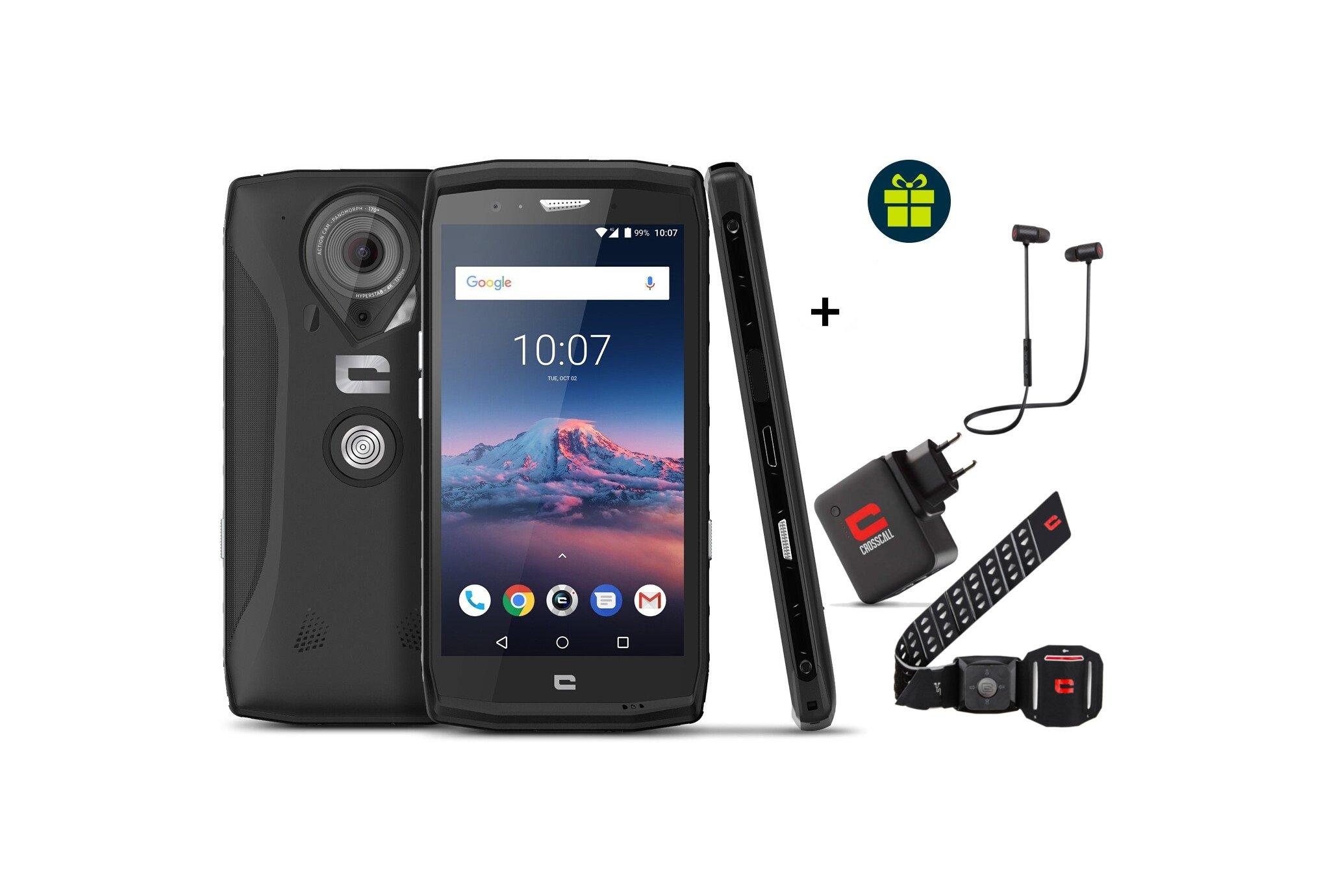 Crosscall Pack Trekker-X4 + 3 Accessoires offerts (X-Play/X-Armband/Power Pack) Téléphone Outdoor