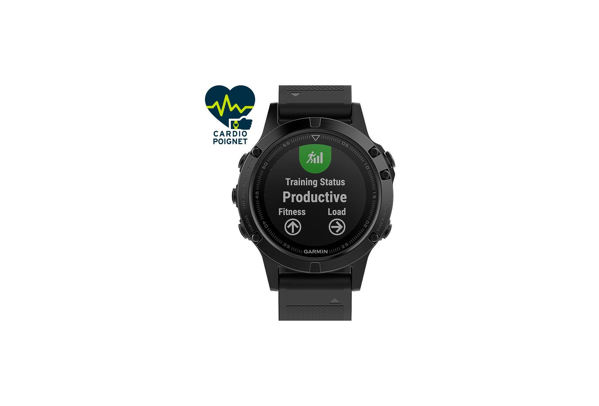 Garmin Reloj Fénix 5 Sapphire GPS Multisports Cardio-Gps