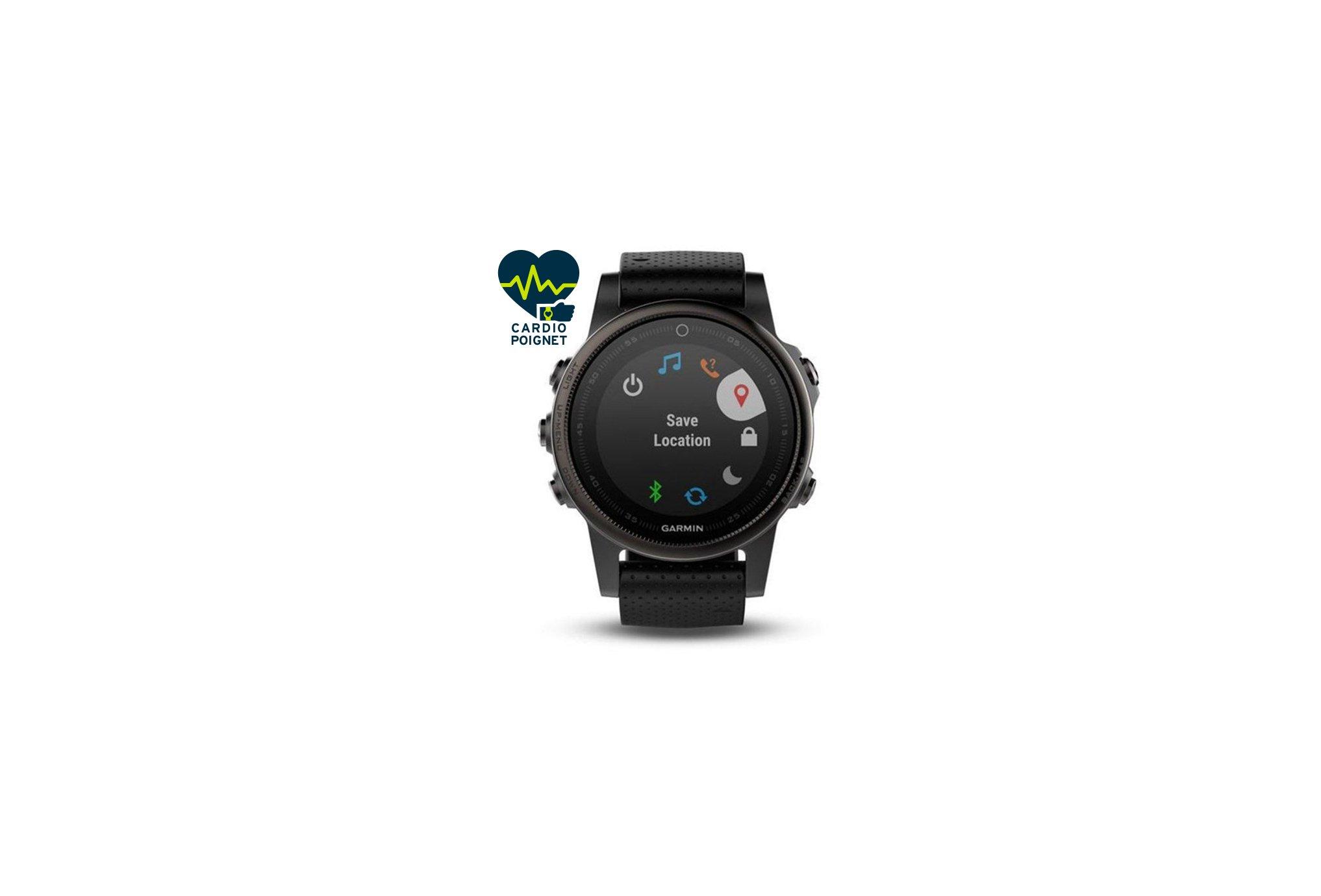 Garmin Fenix 5S GPS Multisport Sapphire Black Cardio-Gps