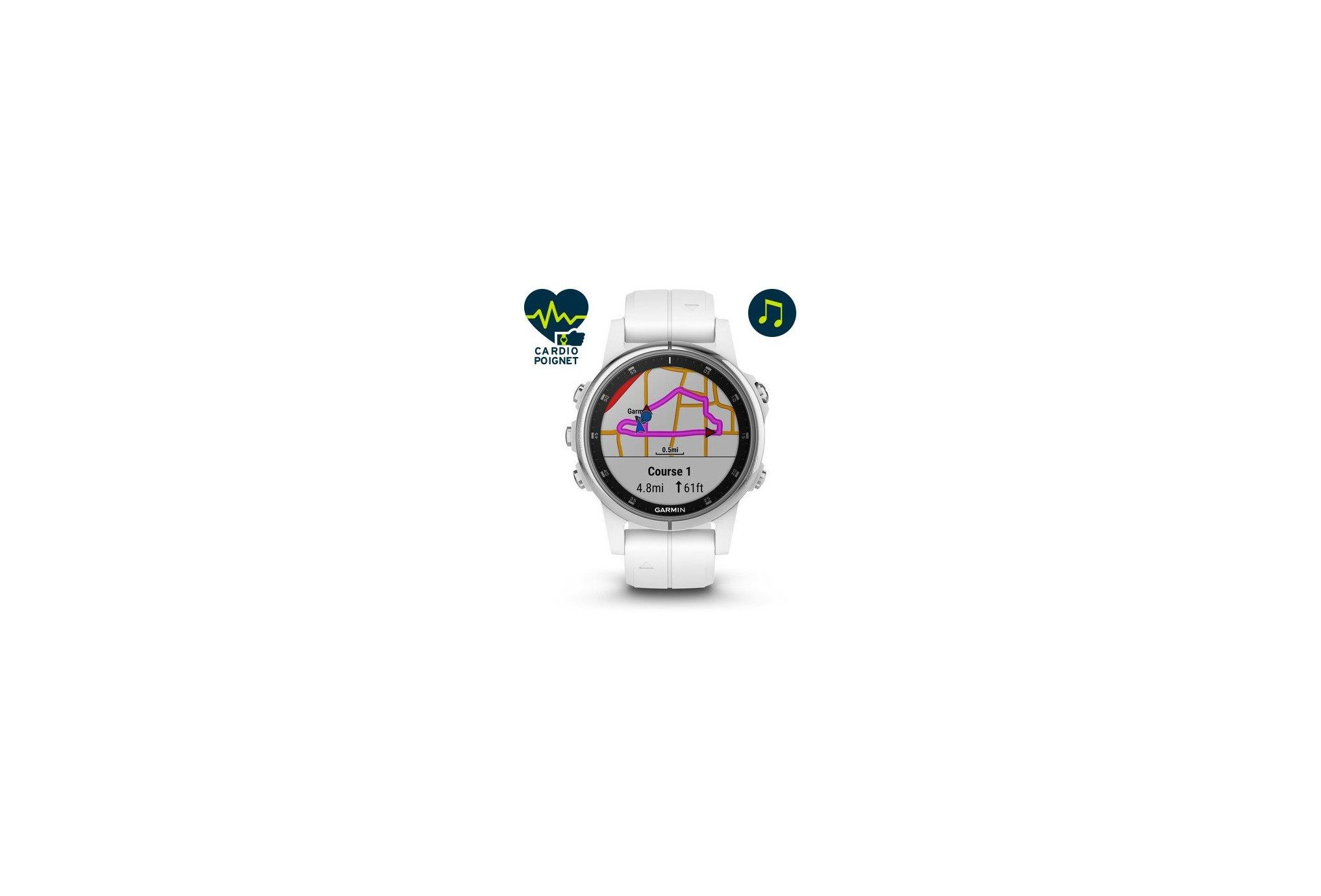 Garmin Fenix 5S Plus Silver Zafiro Cardio-Gps