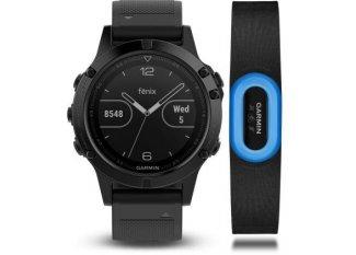 Garmin Fenix 5 GPS Multisports Sapphire Performer HRM-Tri+ Correa de cuero de regalo