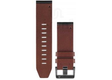 Garmin Pack Fenix 5X Plus Black Sapphire + Bracelet cuir QuickFit - 26mm