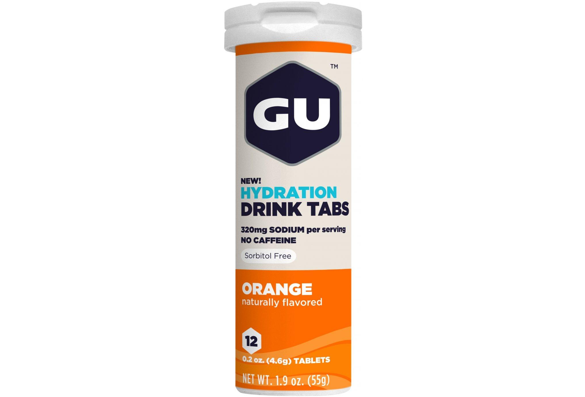 GU Tabletas de hidratación Drink - Naranja Diététique Boissons