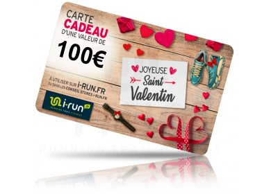 i-run.fr Carte Cadeau 100 Saint Valentin