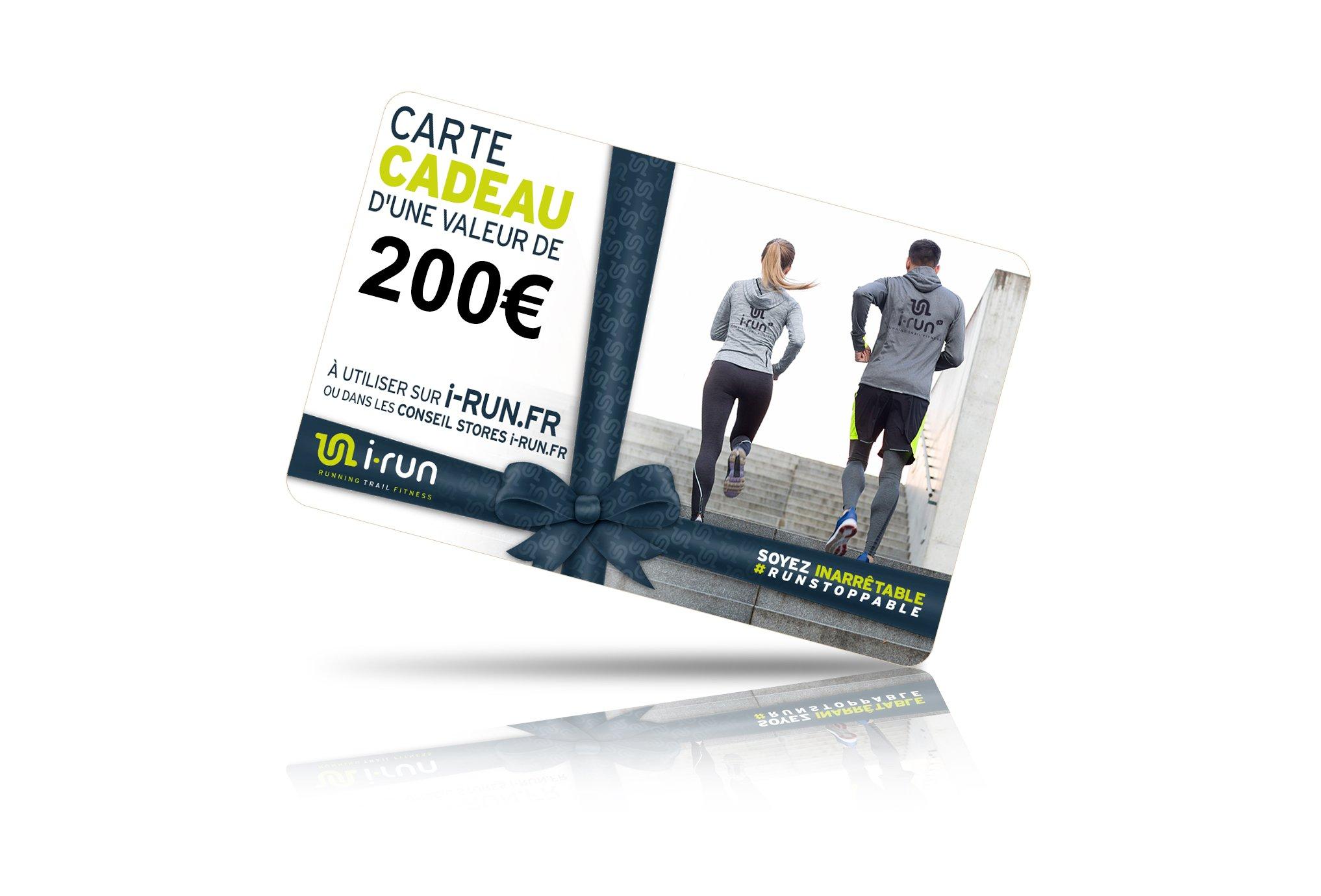 I-Run.Fr Carte cadeau 200 cartes cadeau