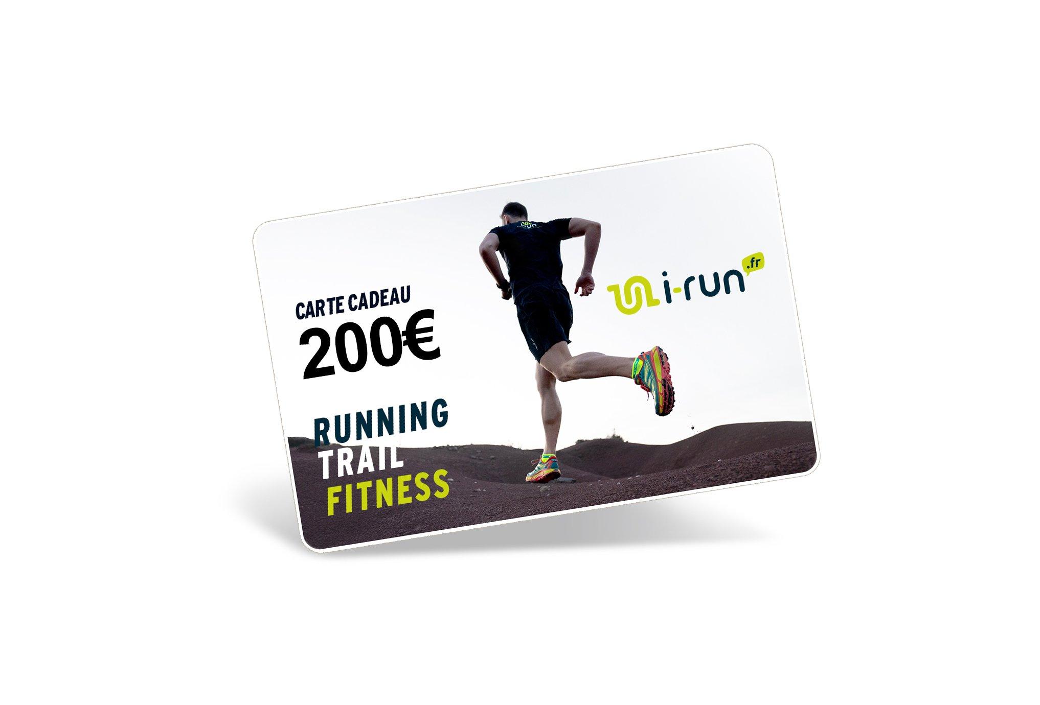 i-run.fr Carte Cadeau 200 M Cartes Cadeau