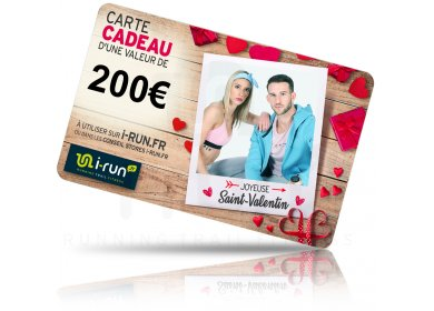 i-run.fr Carte Cadeau 200 Saint Valentin