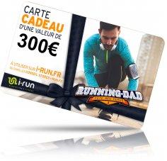 i-run.fr Carte Cadeau 300 Fête des Pères