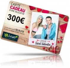 i-run.fr Carte Cadeau 300 Saint Valentin
