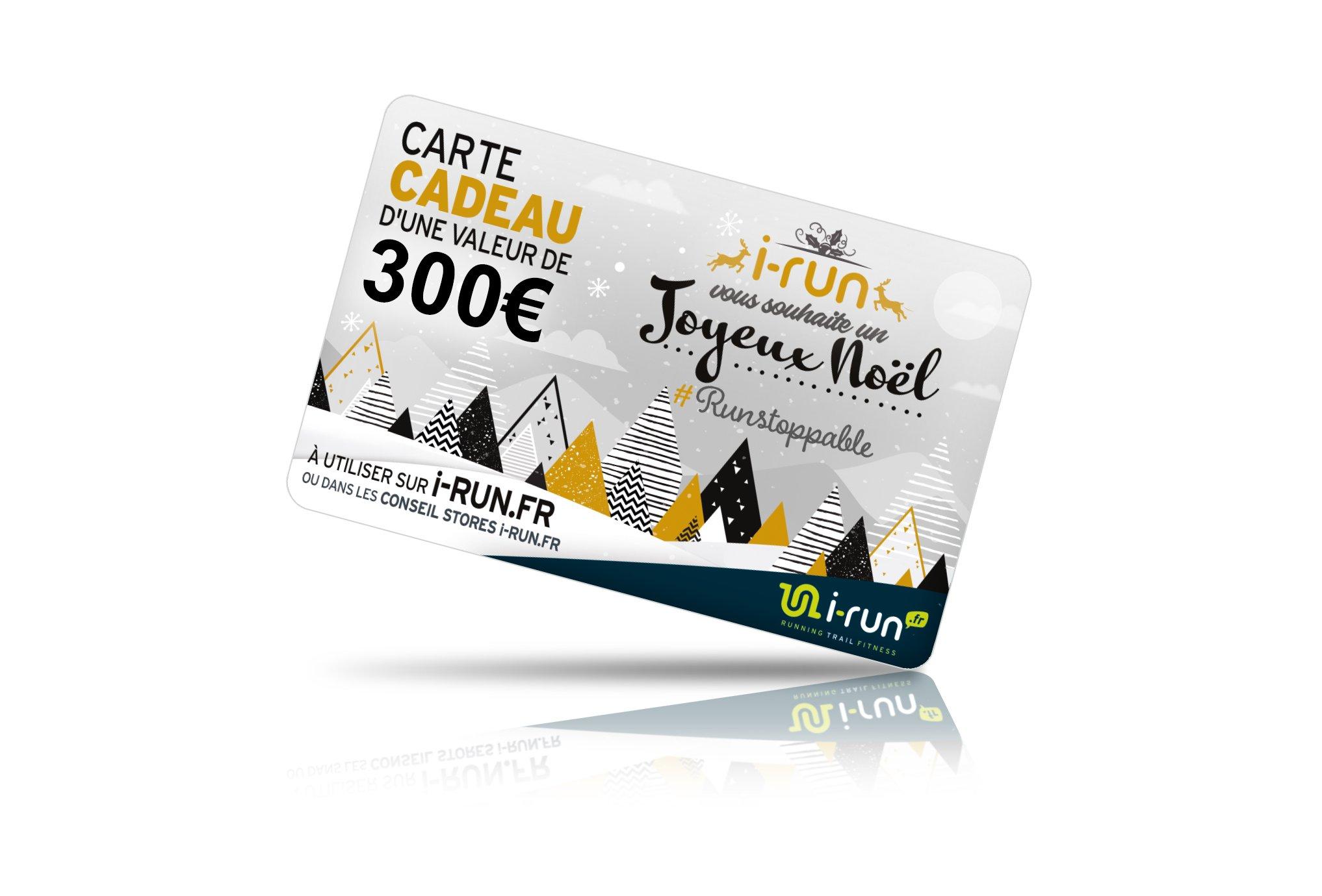 I-Run.Fr Carte cadeau 300 spéciale noël cartes cadeau