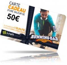 i-run.fr Carte Cadeau 50 Fête des Pères
