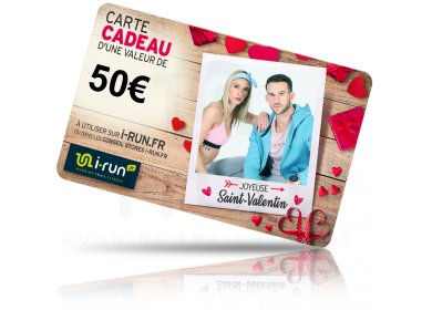 i-run.fr Carte Cadeau 50 Saint Valentin