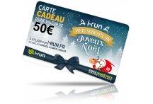 i-run.fr Carte Cadeau 50 Spéciale Noël