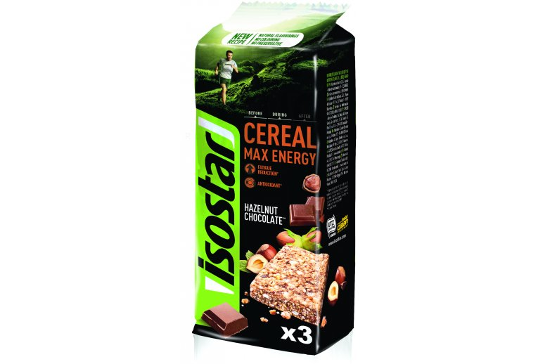 Isostar Barres Cereal Max Energy - Chocolat Noisette