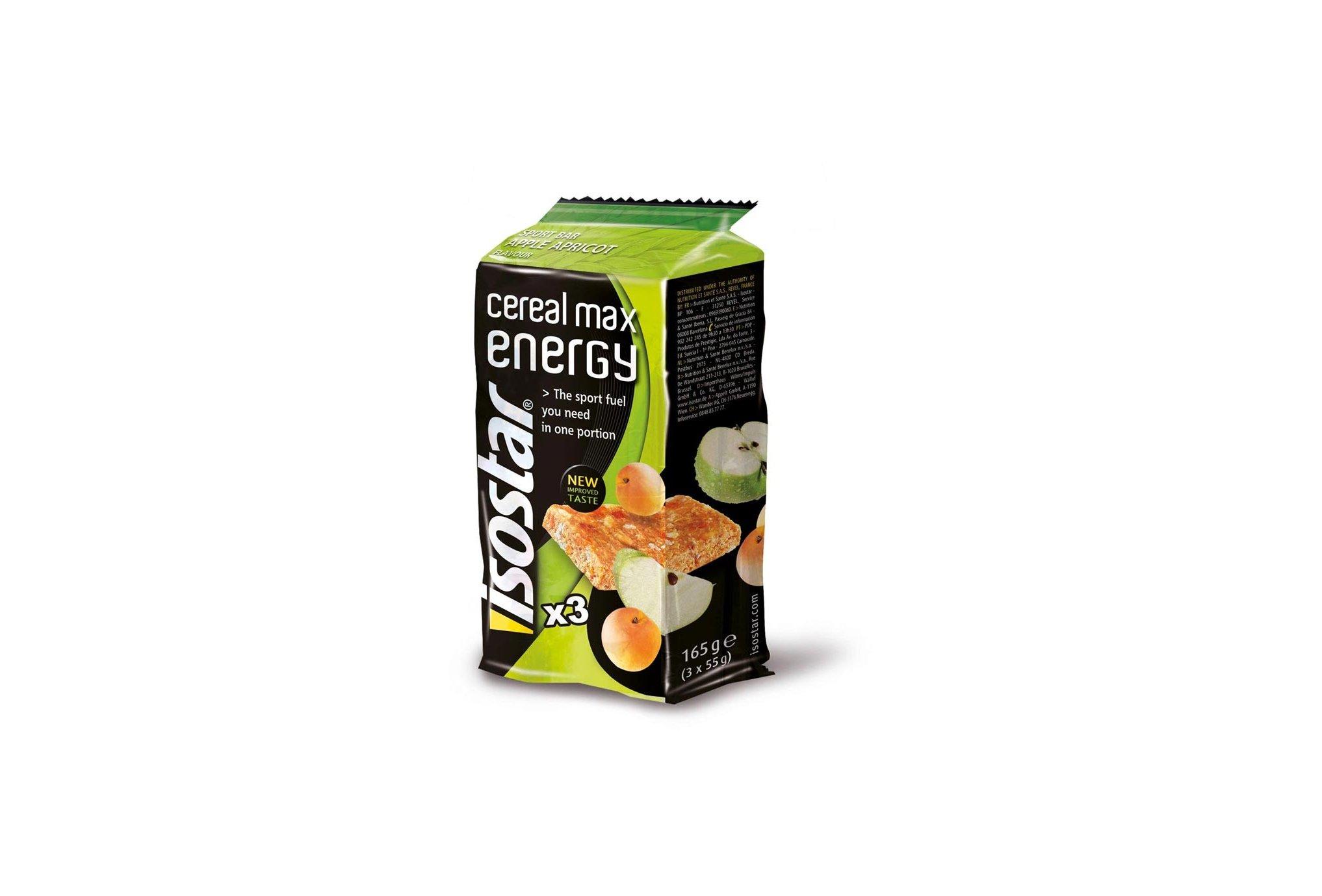 Isostar Barritas energéticas Max Energy manzana/albaricoque Diététique Barres