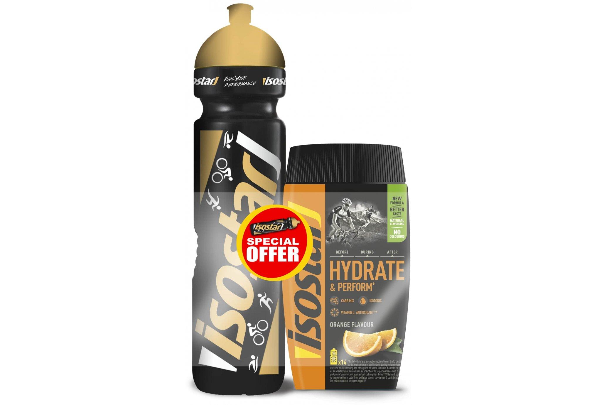 Isostar Hydrate & Perform - Orange + 1 gourde offerte Diététique Boissons