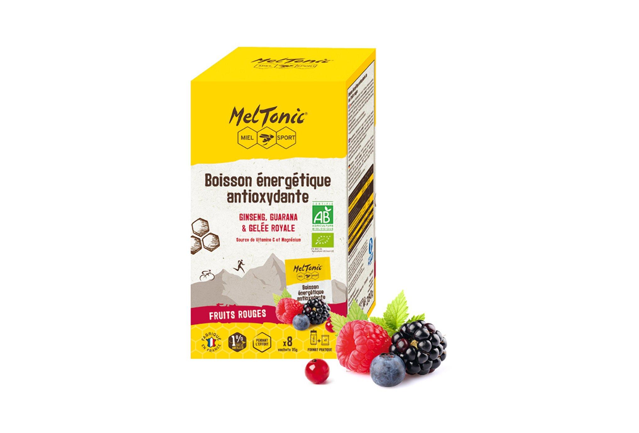 MelTonic Étui 8 sachets Boisson Énergétique Antioxydante Bio - Fruits rouges Diététique Boissons