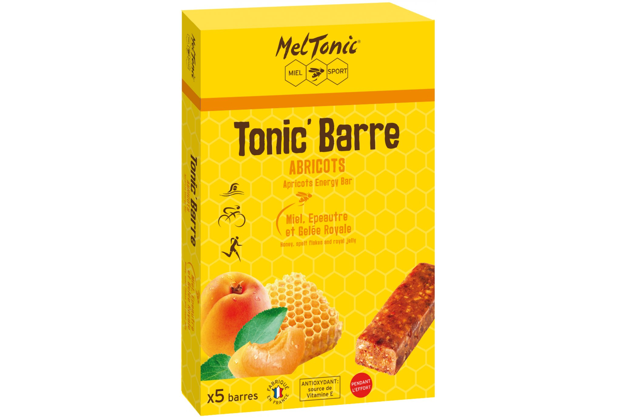 MelTonic Caja Tonic'Barre - Albaricoque Miel Diététique Barres