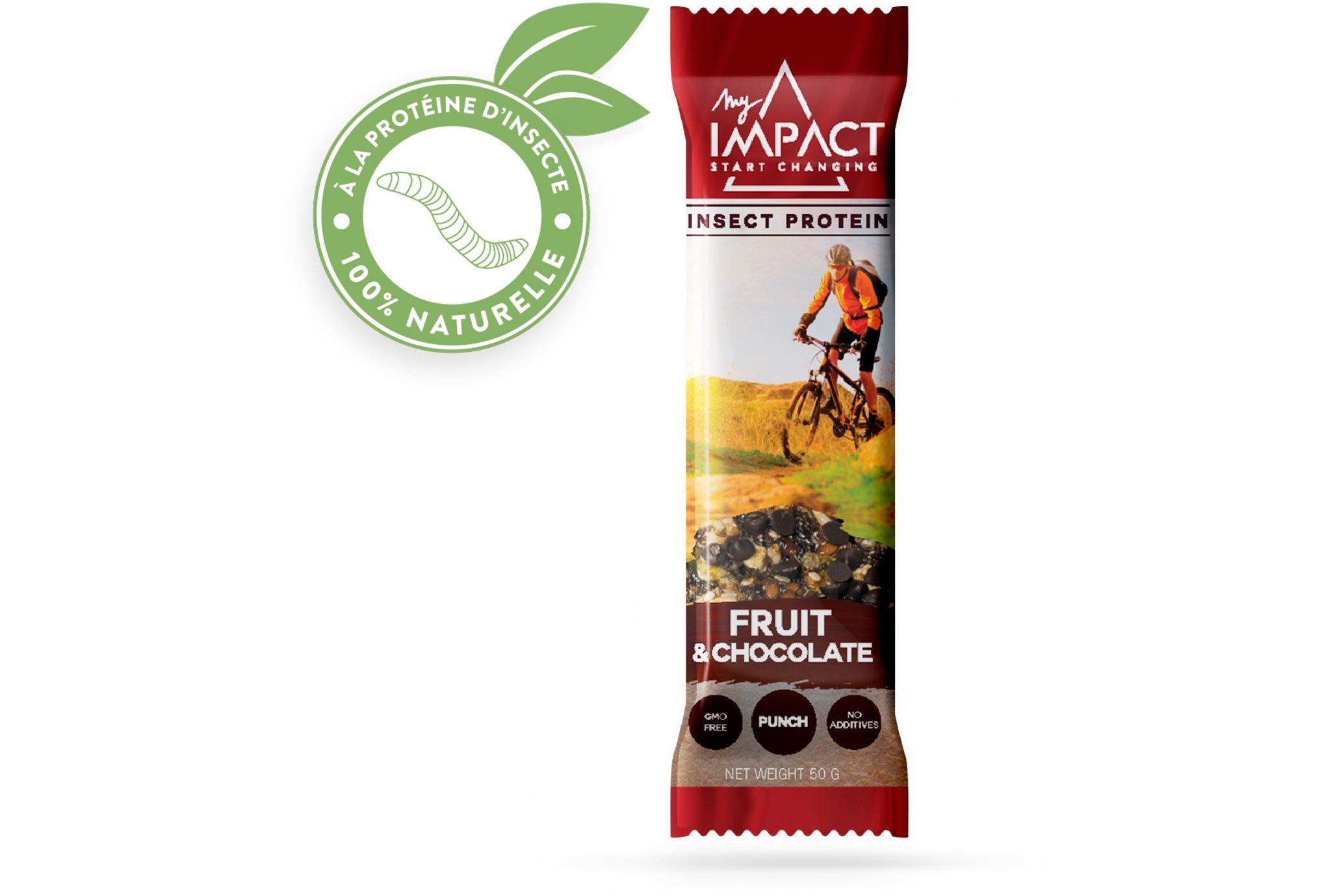 Micronutris - My Impact My Impact - Barre aux insectes / Fruits et Chocolat Diététique Barres