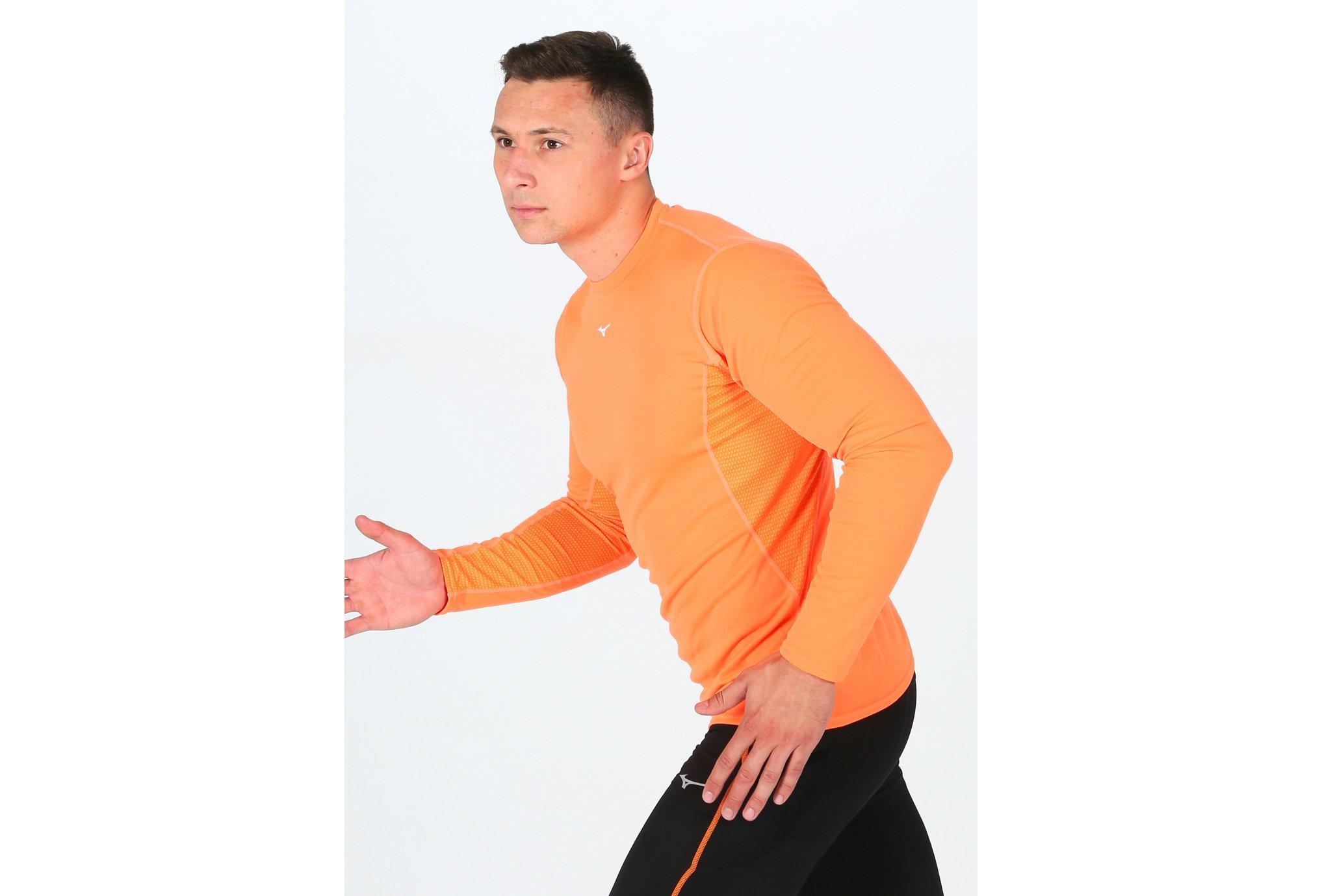 Mizuno Breath Thermo Mid Weight Crew M Diététique Vêtements homme