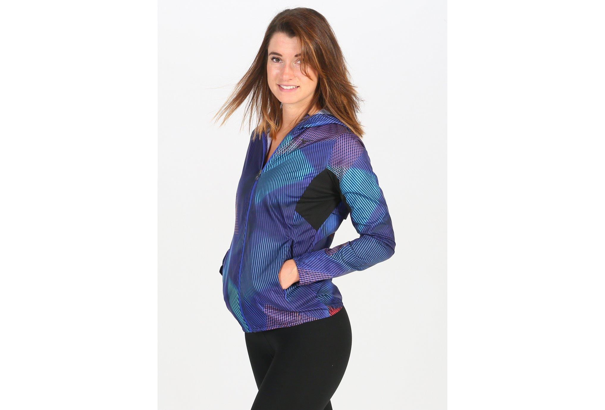 Mizuno Printed Hooded W vêtement running femme