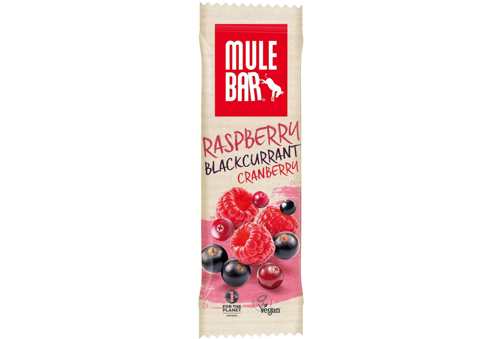 Mulebar Barre énergétique Bio Vegan - Fruits Rouges Diététique Barres