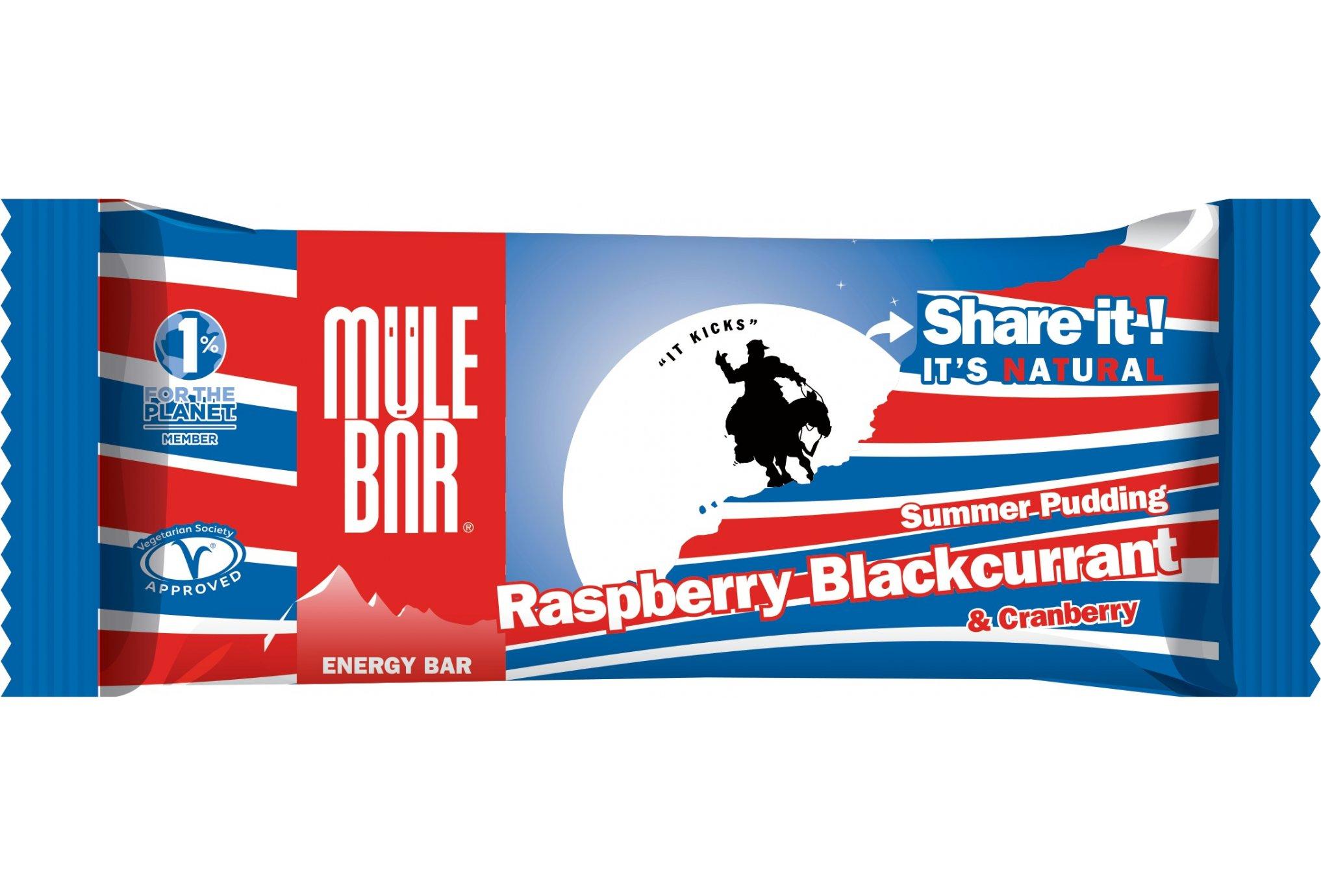 Mulebar Barre énergétique Summer Pudding - Fruits Rouges Diététique Barres