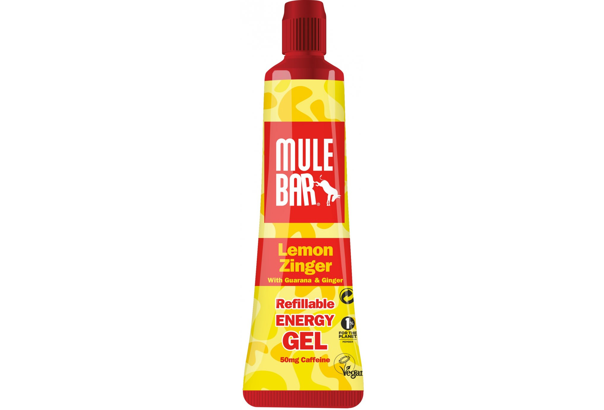 Mulebar Gel Energy Lemon Zinger Vegan - Citron/Gingembre Diététique Gels