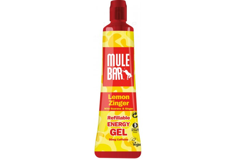 Mulebar Gel Energy  Lemon Zinger Vegan - Citron/Gingembre