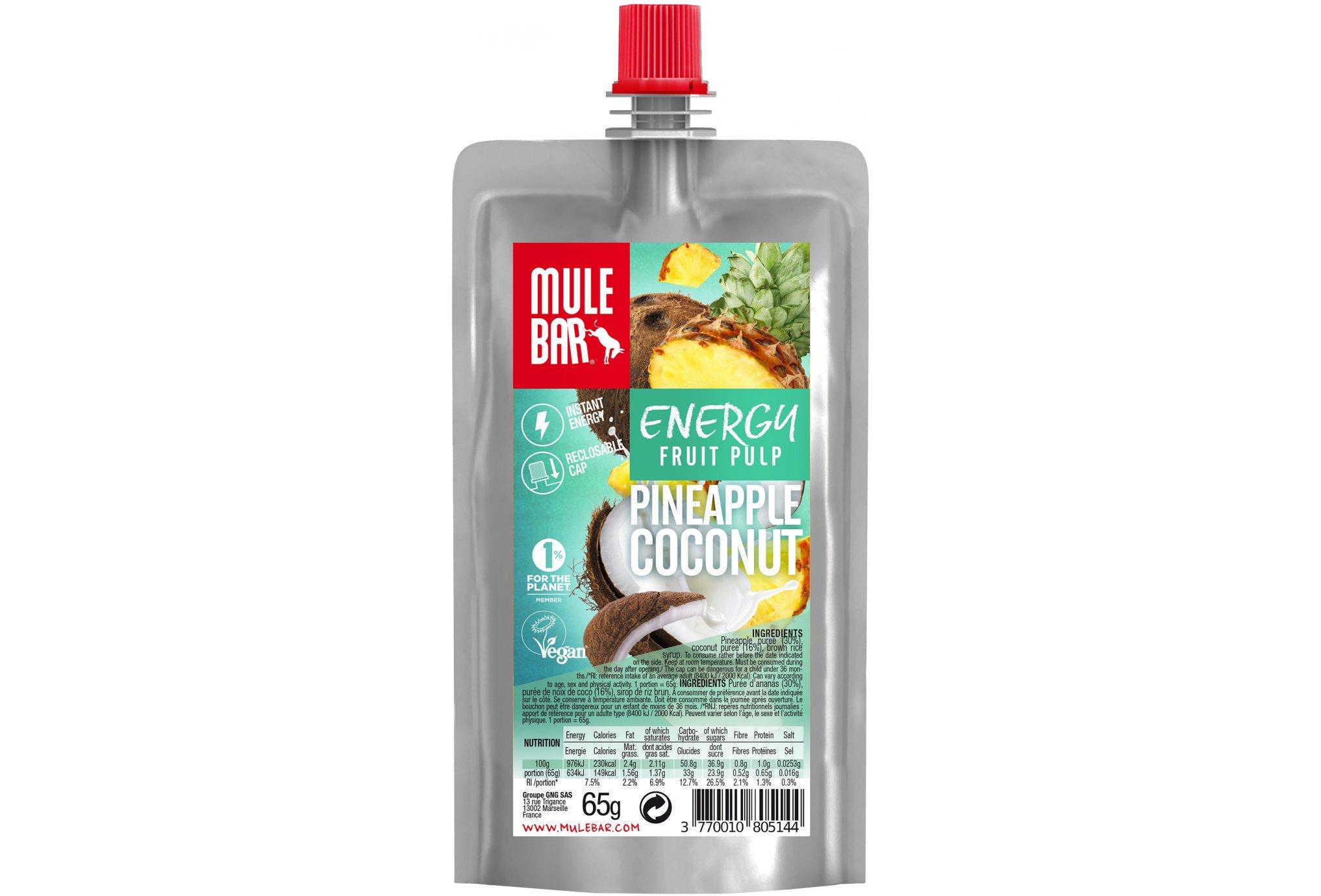 Mulebar Pulpe de fruits Vegan - Ananas/Coco Diététique Gels