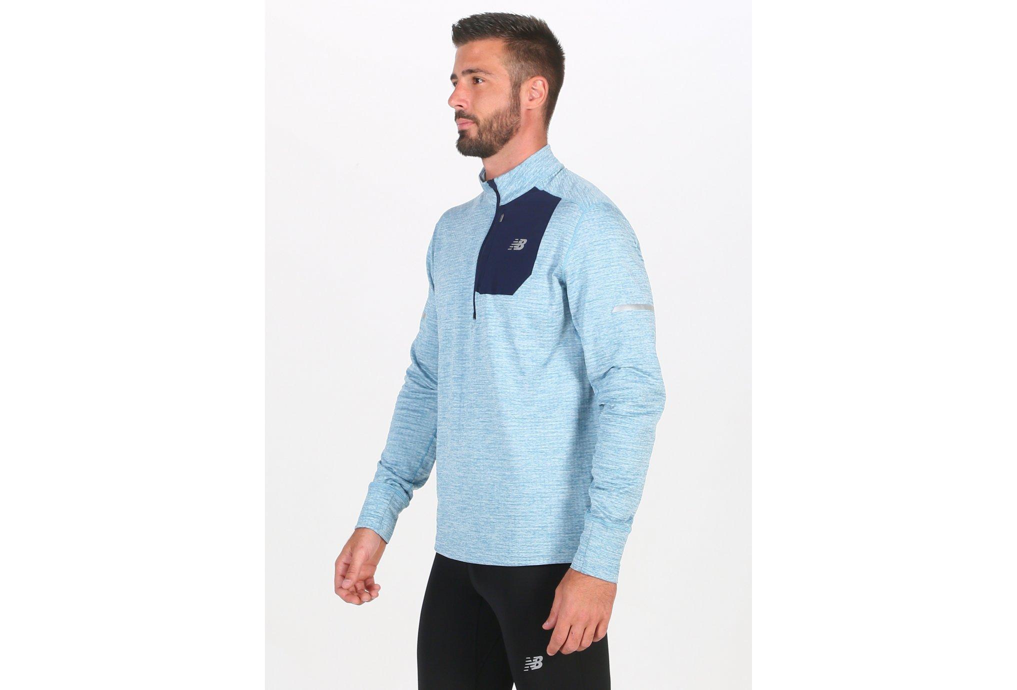 New Balance Heat Quarter 1/2 Zip M Diététique Vêtements homme