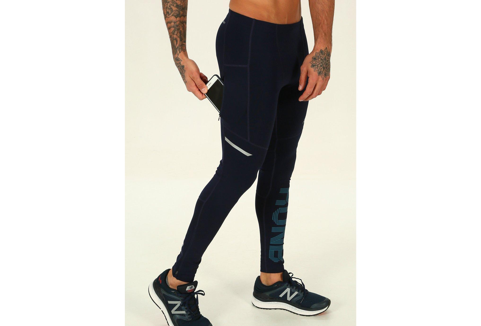 New Balance Mallas largas Impact Print vêtement running homme