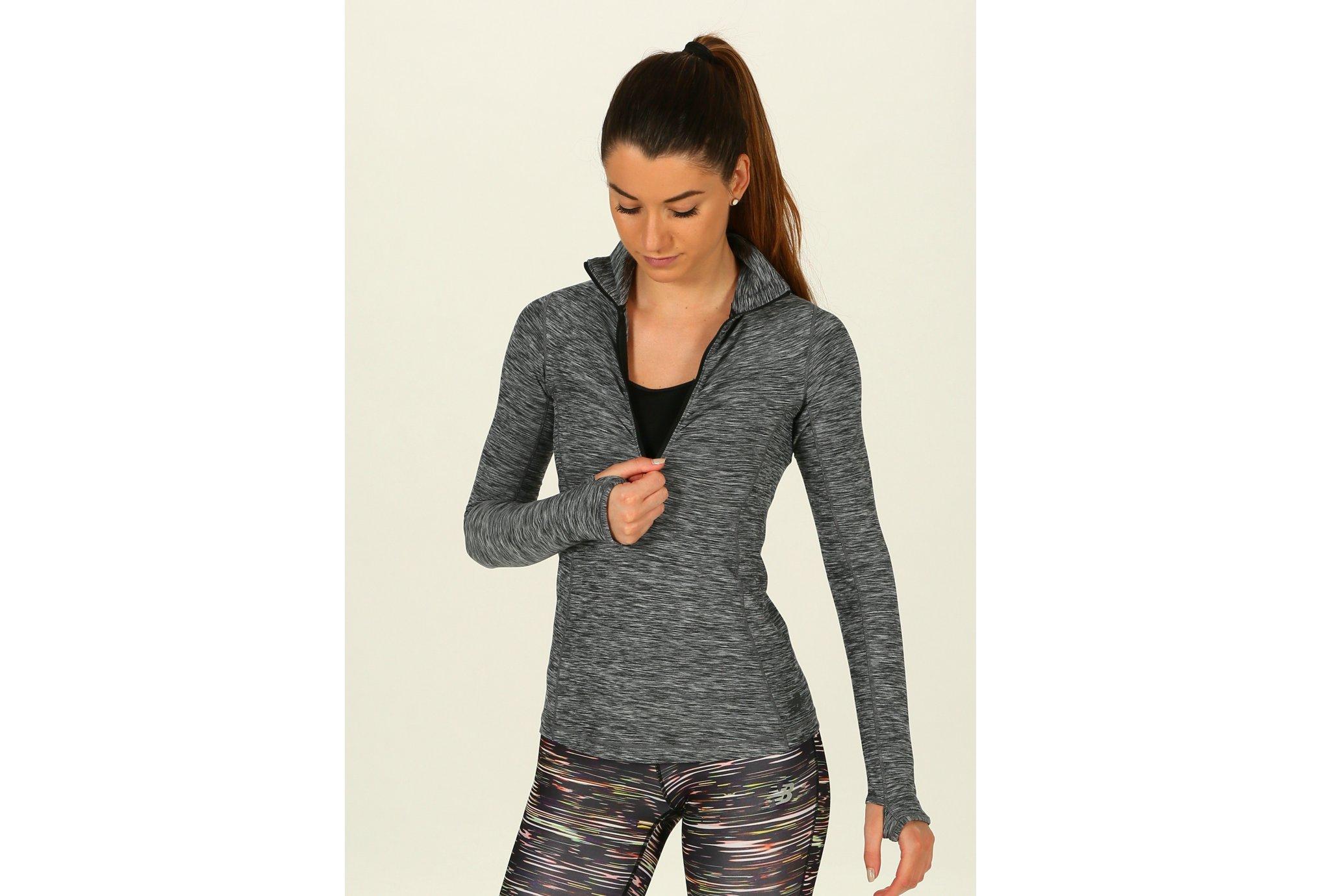 New Balance In Transit Half Zip W Diététique Vêtements femme