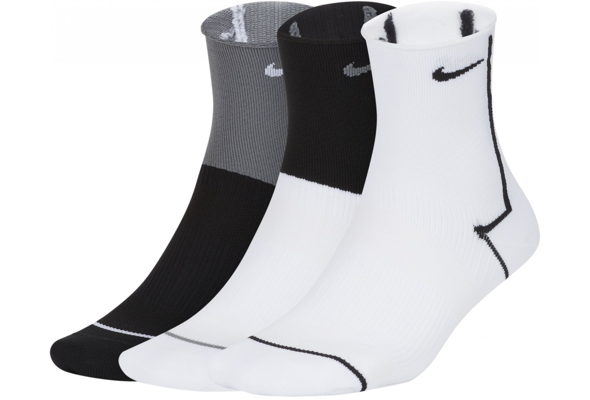 Nike 3 paires Everyday Plus Lightweight Ankle W Chaussettes