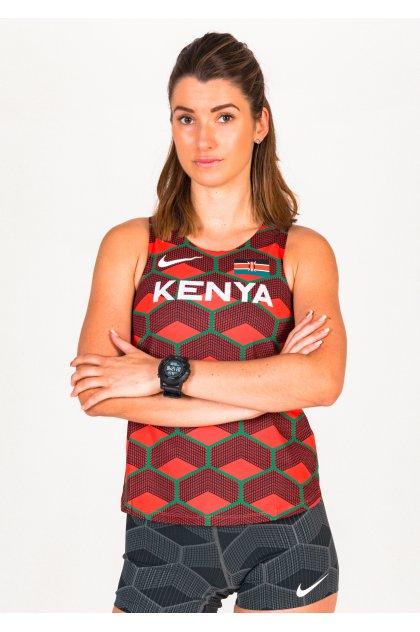 Nike camiseta de tirantes AeroSwift Team Kenya
