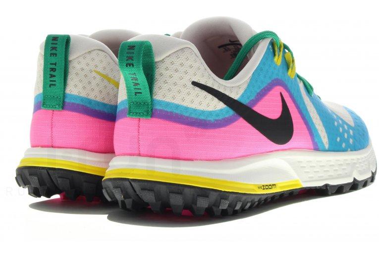 Detalles de Nike Aire Zoom Wildhorse 5 Zapatillas Trail Running Blanco Azul Rosa